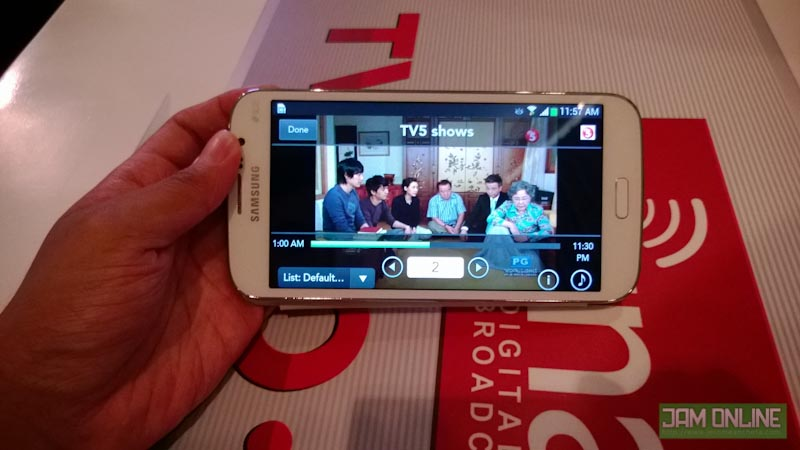 Cignal TV-to-go streams TV Channels to your tablet or phone
