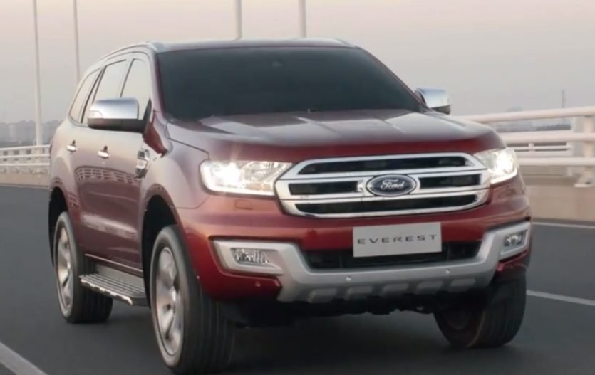 Ford Everest shows off its terrain skills