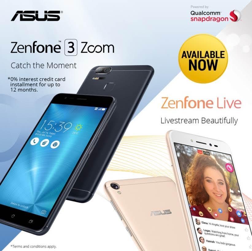 ASUS Zenfone Live Amp Zenfone 3 Zoom Now Available O Jam