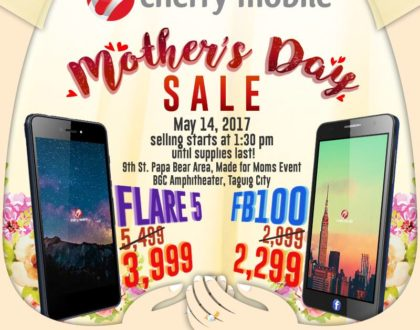 Get discounts on Cherry Mobile Flare 5 and FB 100 at Cherry Mobile Mother's Day Sale