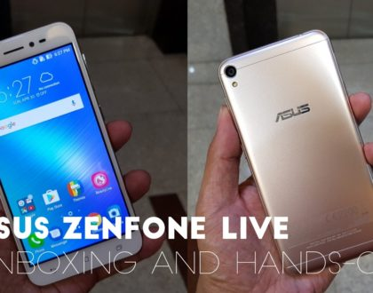 ASUS Zenfone Live Unboxing and Hands-on Video