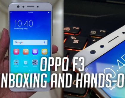 OPPO F3 Unboxing and Hands-On Video