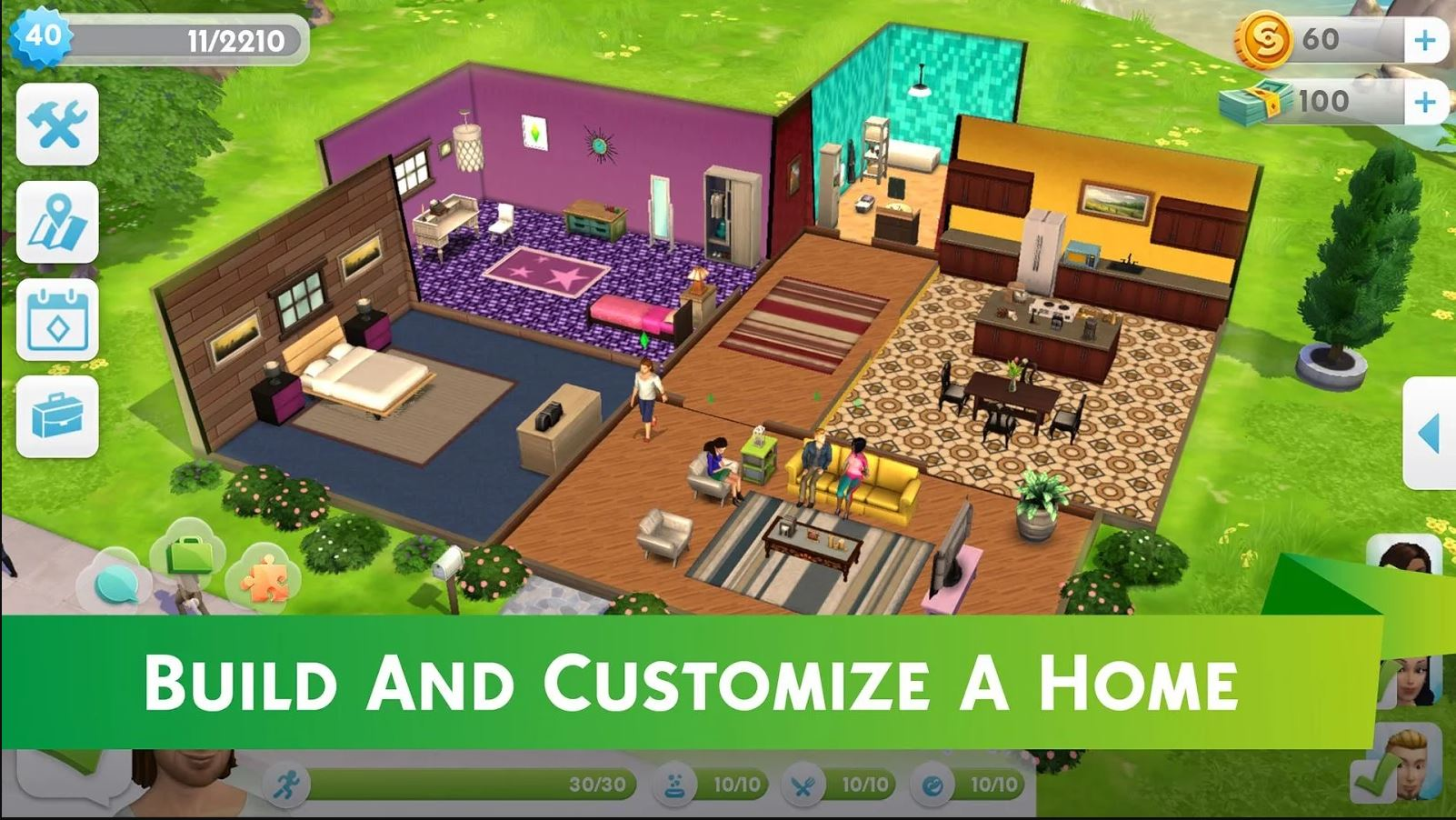 The sims mobile hits ios and android jam online for Build your own mobile home online