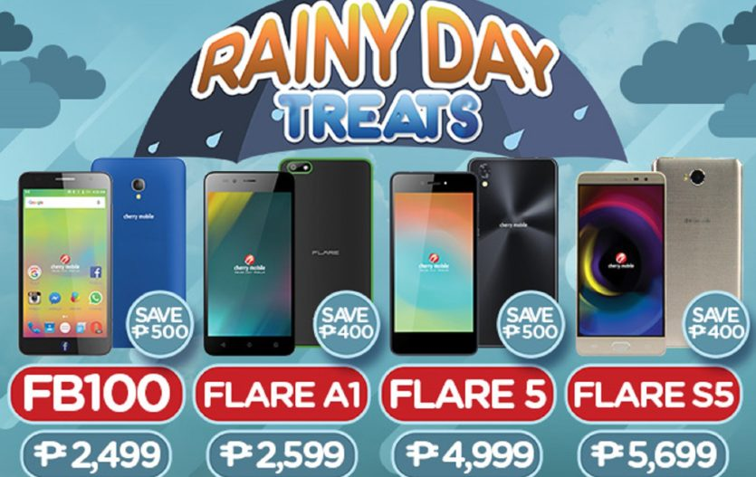 Get discounts on Cherry Mobile smartphones in Rainy Day Treats Promo