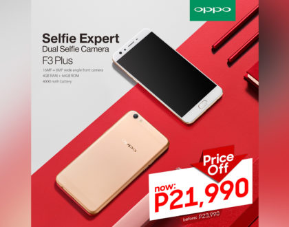OPPO F3 Plus Price Slashed to Php21,990