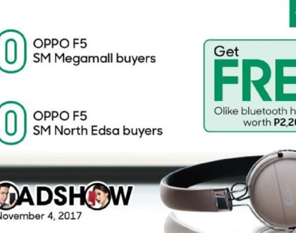 Get freebies worth more than Php5,000 at OPPO F5's Early Hour Roadshow offer