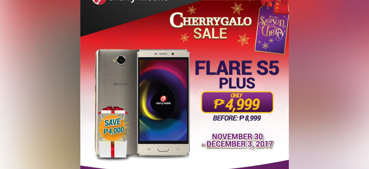 Cherry Mobile Flare S5 Plus down to P4,999 for a limited time!