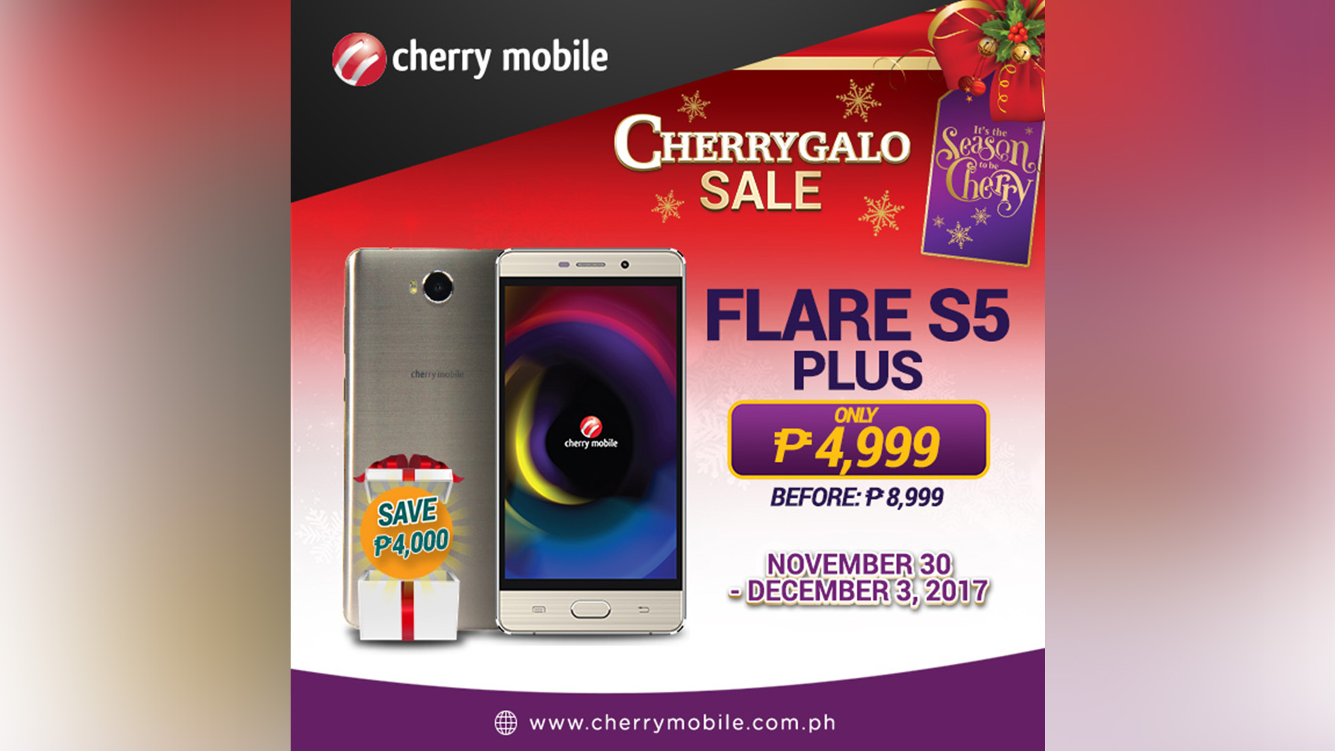 newest 89e8d f2ec4 Cherry Mobile Flare S5 Plus down to P4,999 for a limited time! • Jam ...