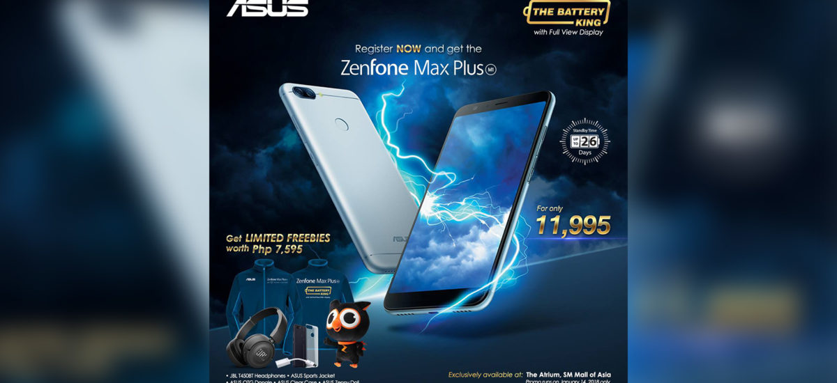 ASUS Zenfone Max Plus Priced at Php11,995