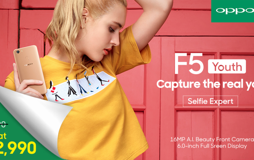 OPPO F5 Youth Now Priced at Php12,990