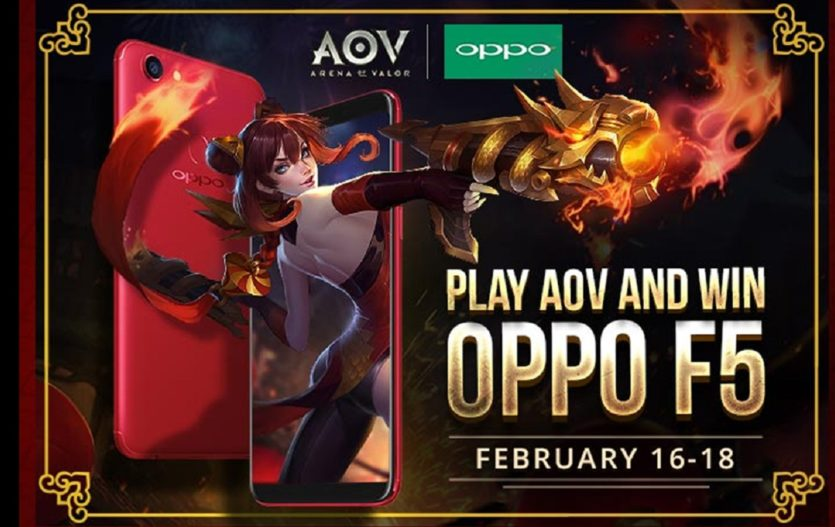 Get a chance to Win an OPPO F5 when you Play Arena of Valor!