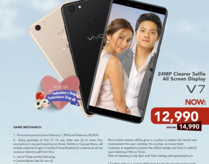 Vivo Valentine's Promo offers freebies for every purchase of V7
