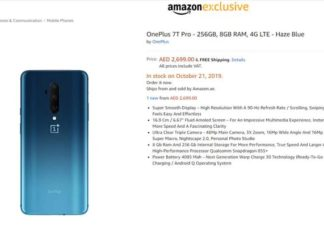 OnePlus 7T Pro Pricing