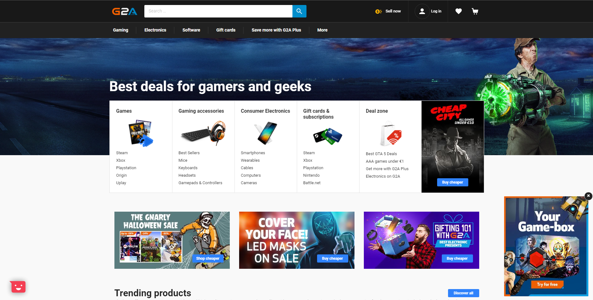 TOP 5 Sites To Buy Games At A Discount - G2A