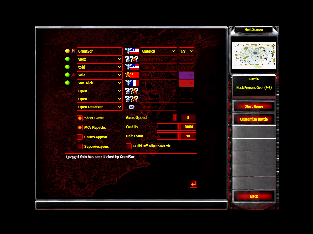 How to play red alert browser game